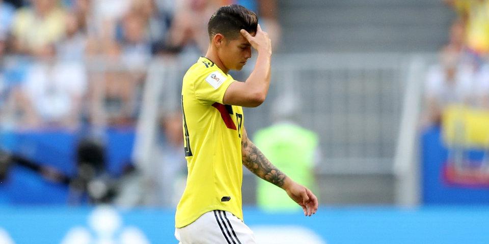 Родригес пропустил тренировку сборной Колумбии