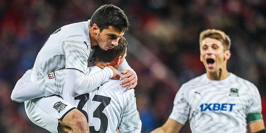 «Краснодар» оформил первую победу России в 6 матчах Лиги Европы. Два классных гола «быков» в Турции и лучшие моменты