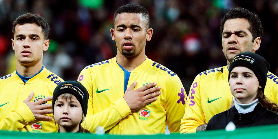 Футболисты сборной Бразилии получат по 1 миллиону долларов в случае победы на ЧМ-2018