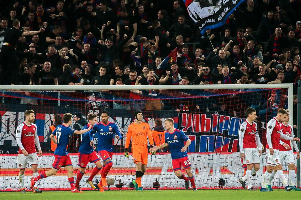 УЕФА завел дело против ЦСКА после матча с «Арсеналом»