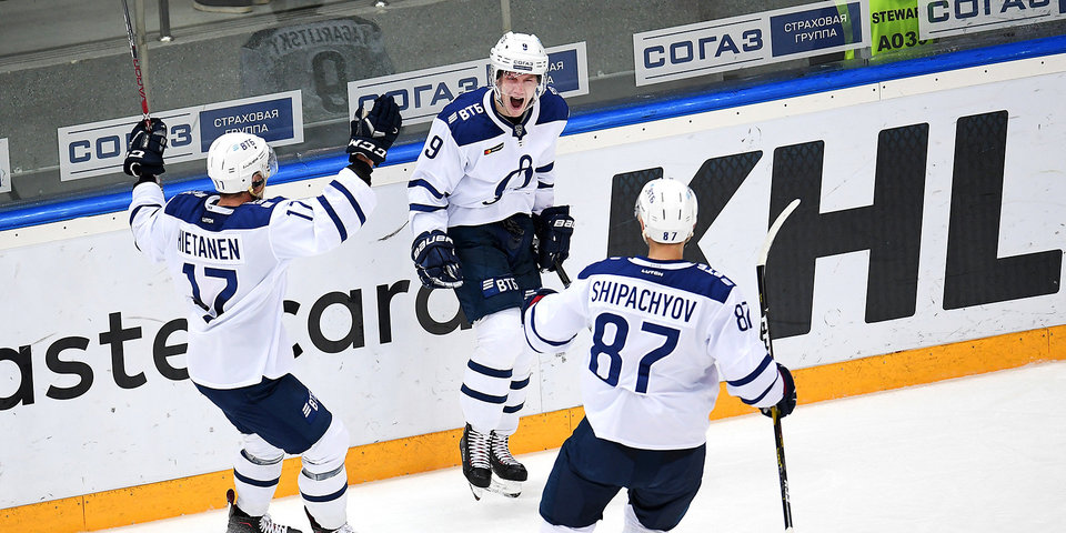 Московское «Динамо» в овертайме одержало победу над «Барысом»