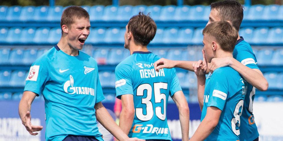 «Зенит» оказался сильнее «Ахмата» в матче молодежного первенства
