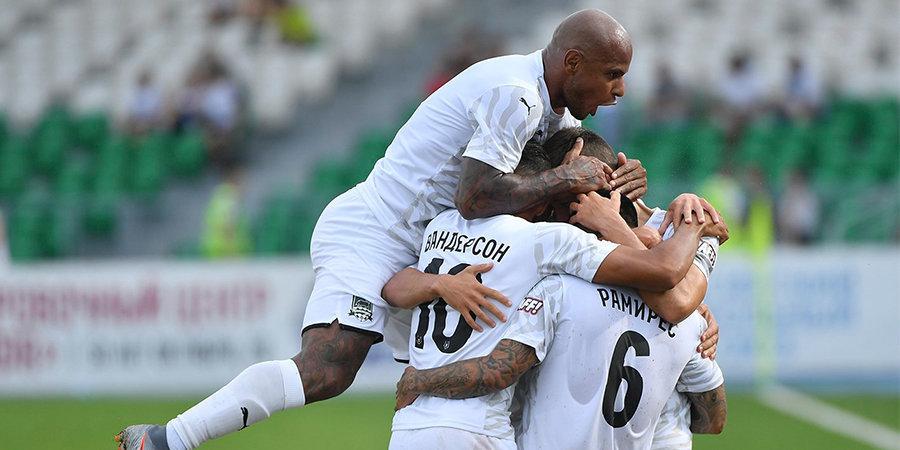 «Краснодар» победил в Уфе, уступая в счете 0:2