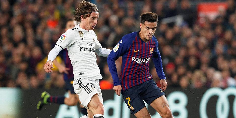 «Барселона» и «Реал» сыграли вничью в первом матче полуфинала Кубка Испании. Видео