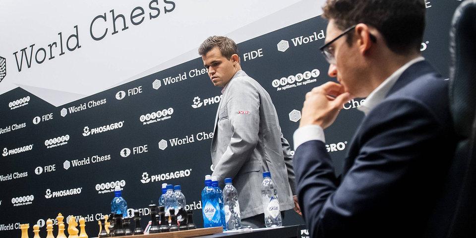 Карлсен и Каруана согласились на ничью в 11-й партии матча за шахматную корону