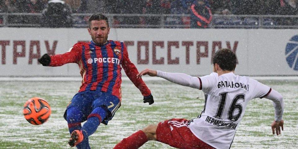 Снежная ничья ЦСКА и «Амкара»