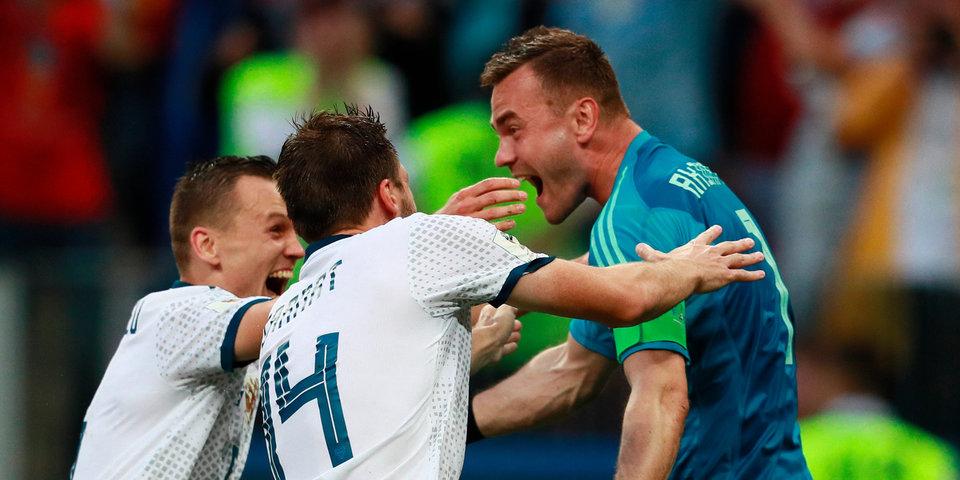 Сборная России обыграла Испанию в серии пенальти и впервые в истории вышла в 1/4 финала ЧМ