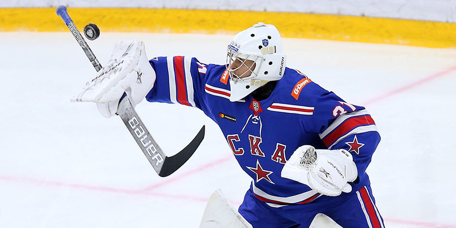 Вратарь СКА Самонов — об отсутствии в составе петербуржцев: «Игровой ритм потерял, но ничего, наберу»