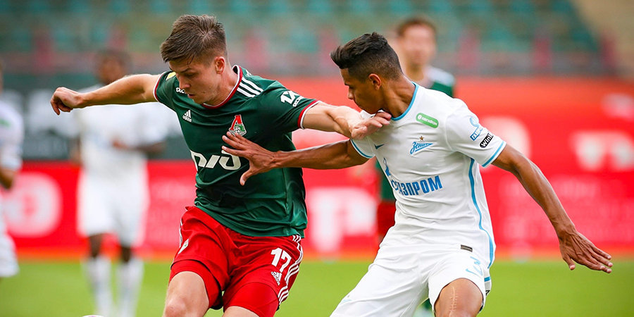 «Локомотив» и «Зенит» сыграли вничью. Сутормин и Смолов отличились с пенальти