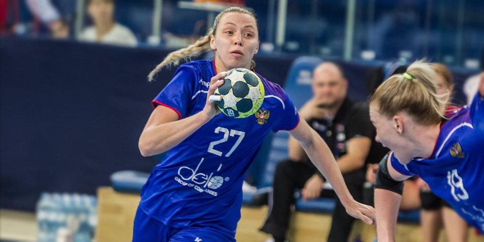 Российские гандболистки добились третьей победы на чемпионате Европы