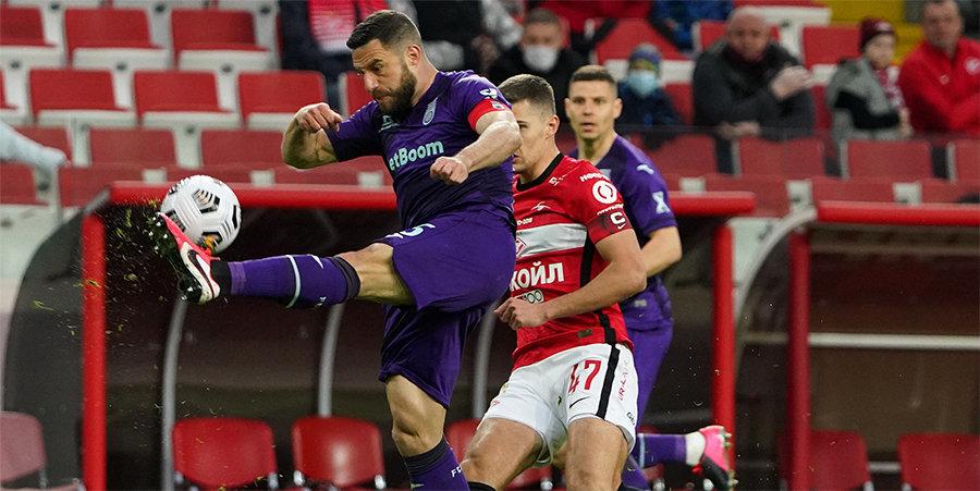 Никита Симонян — о поражении «Спартака»: «Без комментариев. Всё — на табло!»