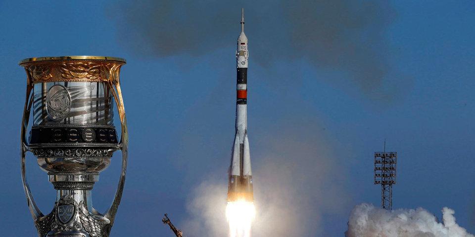 Кубок Гагарина - в космосе. Как главный трофей КХЛ отправляли на орбиту