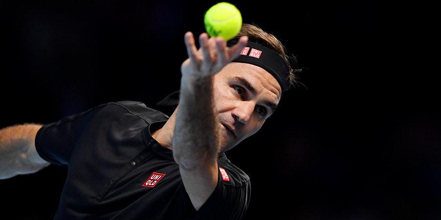 Федерер получил судейское предупреждение за ругань в матче с Сандгреном