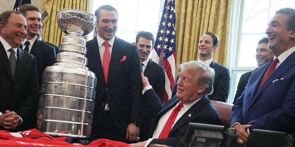 «Вашингтон» вел к победе великолепный игрок». Трамп похвалил Овечкина во время встречи в Белом доме