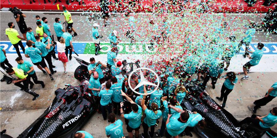 «Мерседес» взял седьмой Кубок конструкторов, Квят остановился в шаге от пьедестала. Лучшие моменты Гран-при Эмилии-Романьи
