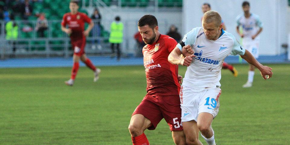 Защитник «Уфы» дисквалифицирован на два матча РПЛ за инцидент в игре с «Зенитом»