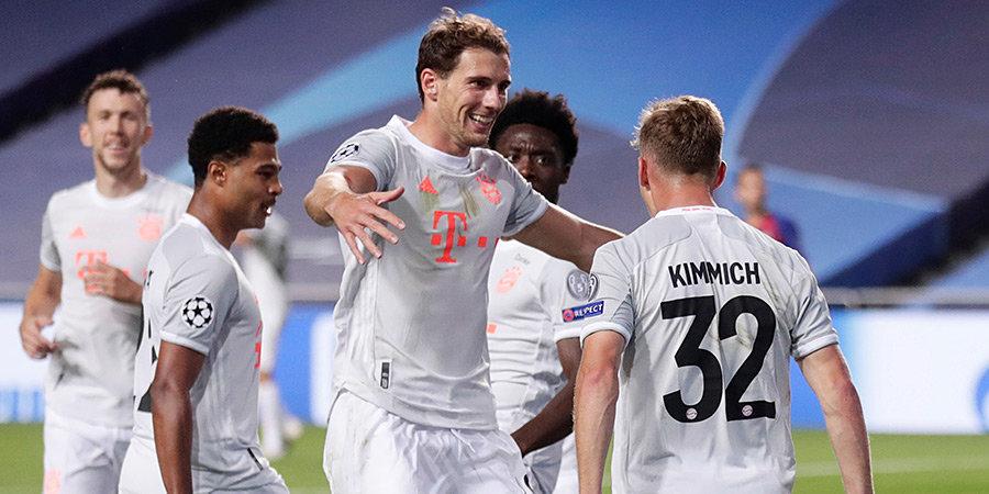 «Бавария» забила 8 мячей «Барселоне» и вышла в полуфинал Лиги чемпионов