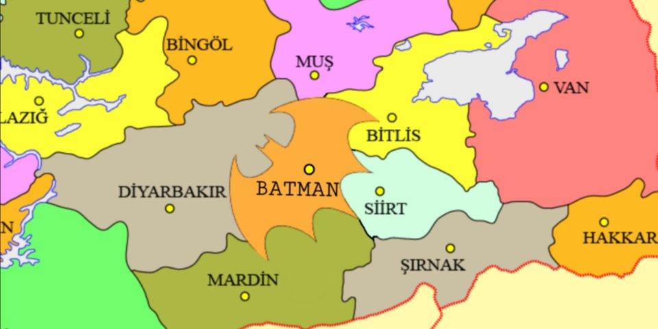Символ Бэтмена может появиться на географической карте мира
