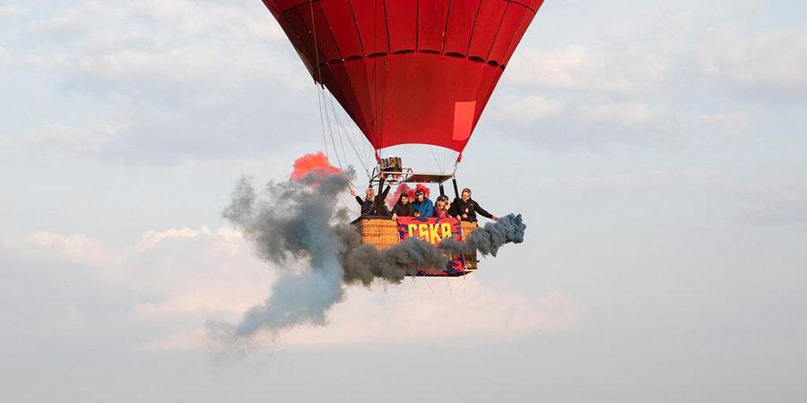 Болельщик ЦСКА рассказал, как пришла идея отправиться в Тулу на воздушном шаре