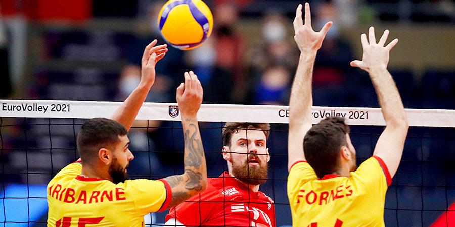 Россия победила Испанию и вышла в 1/8 финала чемпионата Европы
