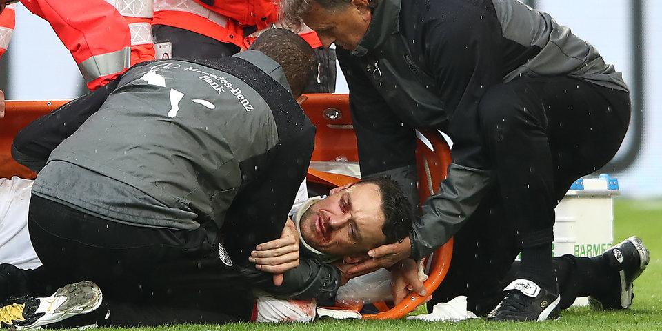 Гентнер сломал лицевые кости в матче с «Вольфсбургом»