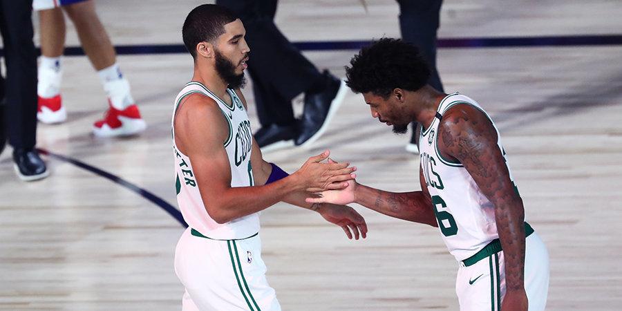 «Бостон» победил «Филадельфию» и первым вышел во второй раунд плей-офф НБА