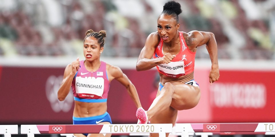 Камачо-Куинн побила олимпийский рекорд в беге на 100 м с барьерами