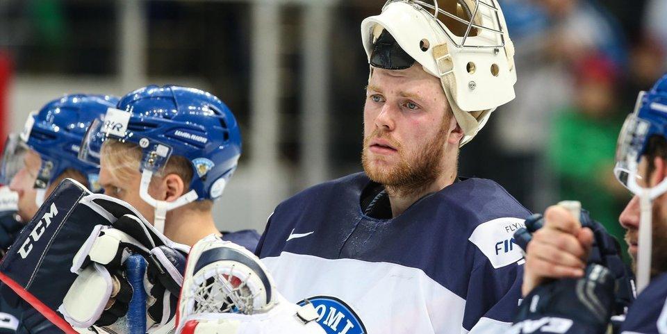 Вратарь сборной Финляндии считает российских хоккеистов фаворитами ОИ-2018