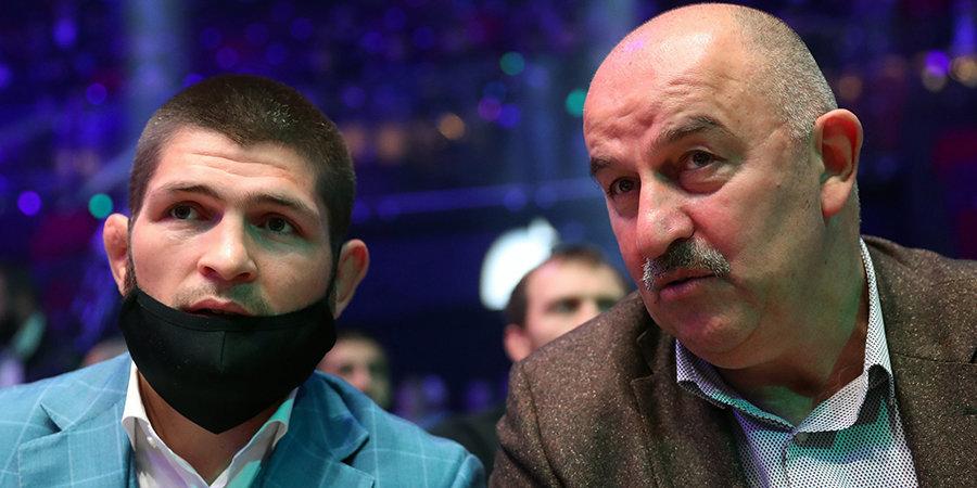 Черчесов поздравил Хабиба с защитой титула чемпиона UFC
