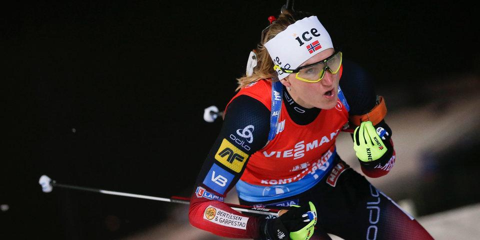 Норвежка Рёйселанд выиграла масс-старт в Хохфильцене, Казакевич — 24-я