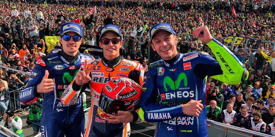 Маркес – триумфатор Гран-при Австралии, Росси финишировал вторым