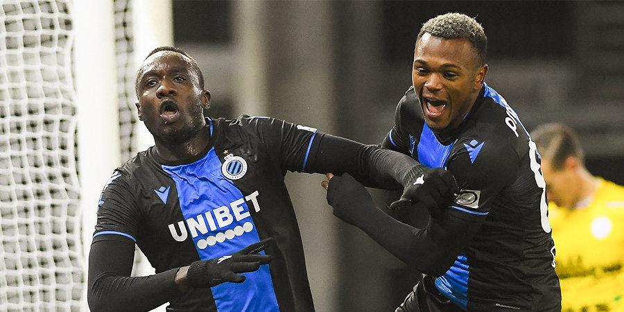 Двух игроков «Брюгге» удалили после празднования гола на 92-й минуте