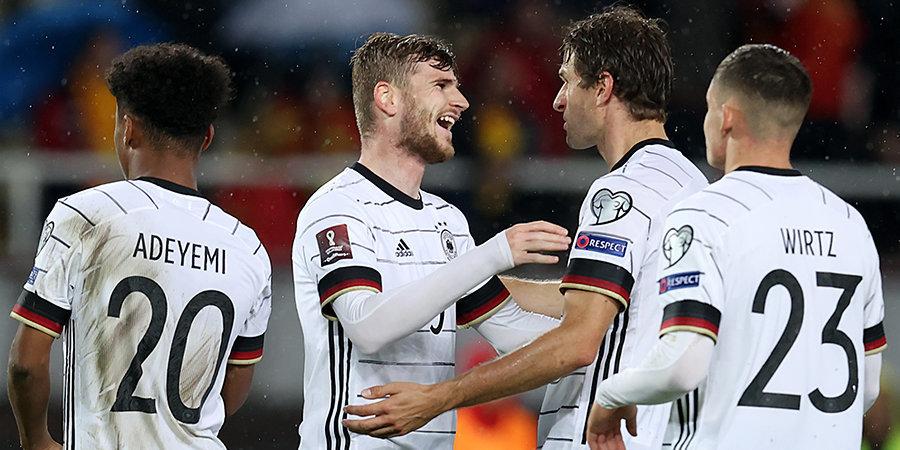Германия разгромила Северную Македонию и стала первой сборной, которая вышла на ЧМ-2022
