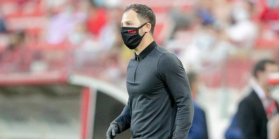 Доменико Тедеско: «С матча против «Динамо» мы не можем выставить оптимальный состав. У нас то красные, то перебор желтых карточек»