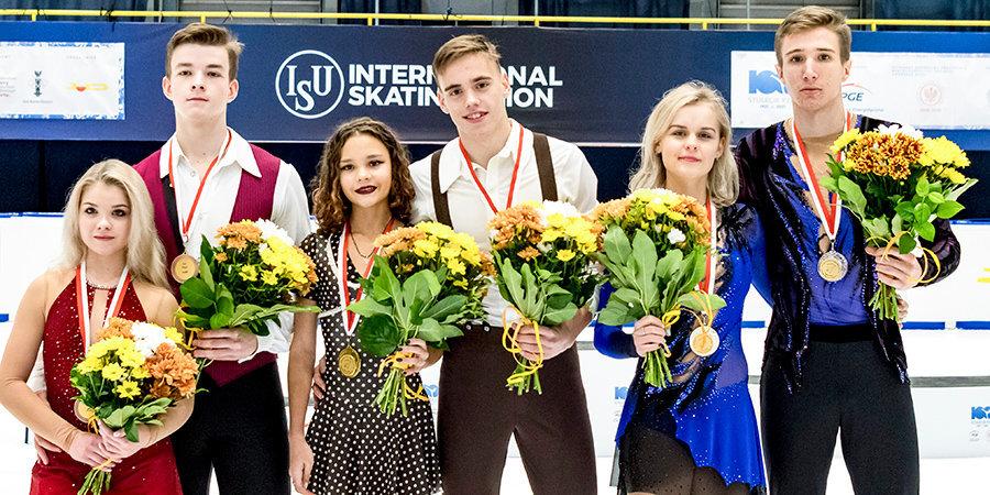 Российские спортивные пары заняли весь пьедестал на этапе юниорского Гран-при в Гданьске