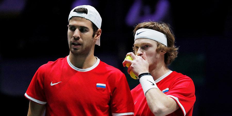Российские теннисисты не сыграют под своим флагом в Кубке Дэвиса и Кубке Билли Джин Кинг