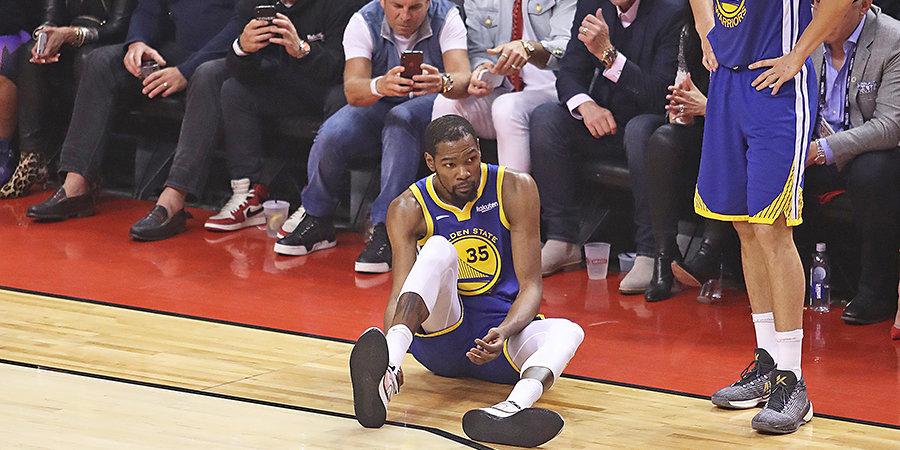 Дюрант вернулся на 11 минут и снова получил травму, а фанаты «Торонто» радовались. Что за дичь?