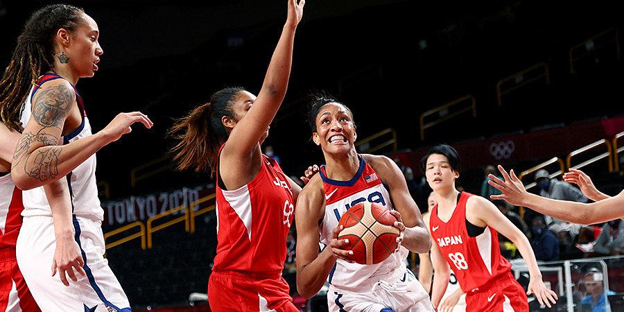 Баскетболистки сборной США обыграли Японию на Олимпийских играх