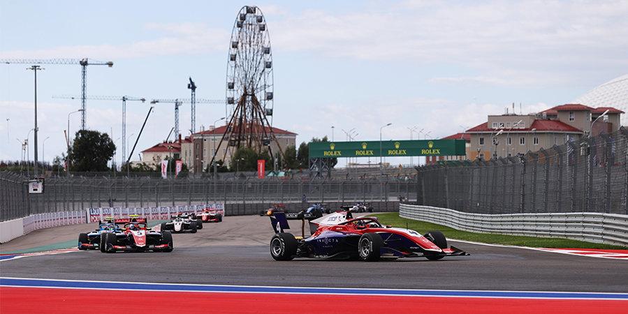 Джек Дуэн победил в третьей гонке «Формулы-3» Гран-при России, Смоляр дважды попал в аварию