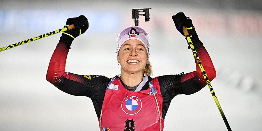 Экхофф победила в гонке преследования в Оберхофе, Миронова — в шаге от пьедестала