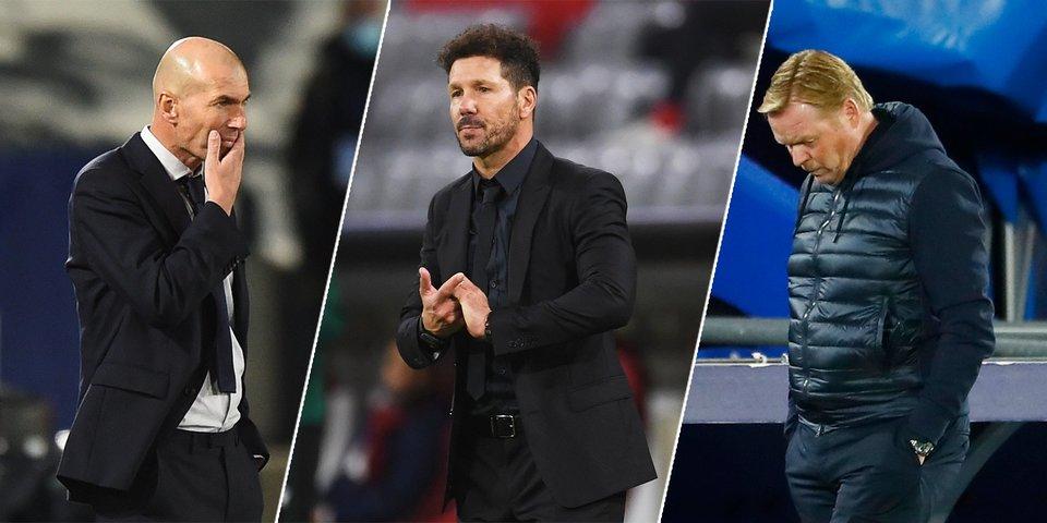 «Реал» и «Атлетико» проваливаются в ЛЧ, «Барса» — в Ла Лиге. Что происходит с испанскими грандами?