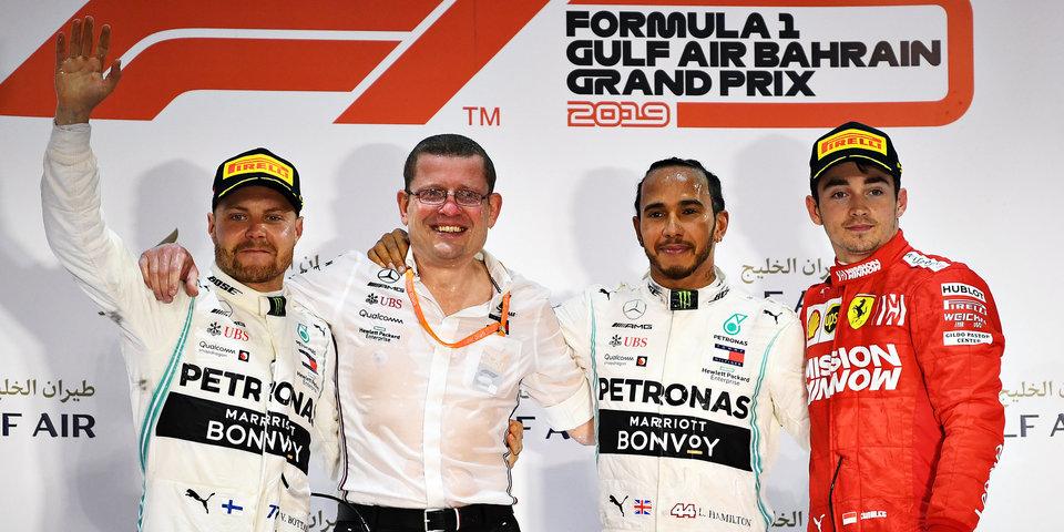 Хэмилтон победил в Бахрейне, Леклера подвела машина, Квят — 12-й. Как это было