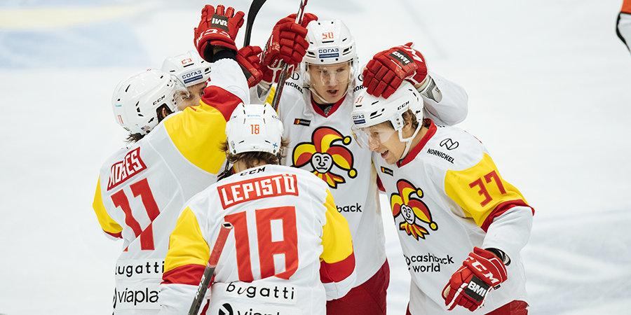 «Йокерит» разгромил московское «Динамо», прервав победную серию бело-голубых