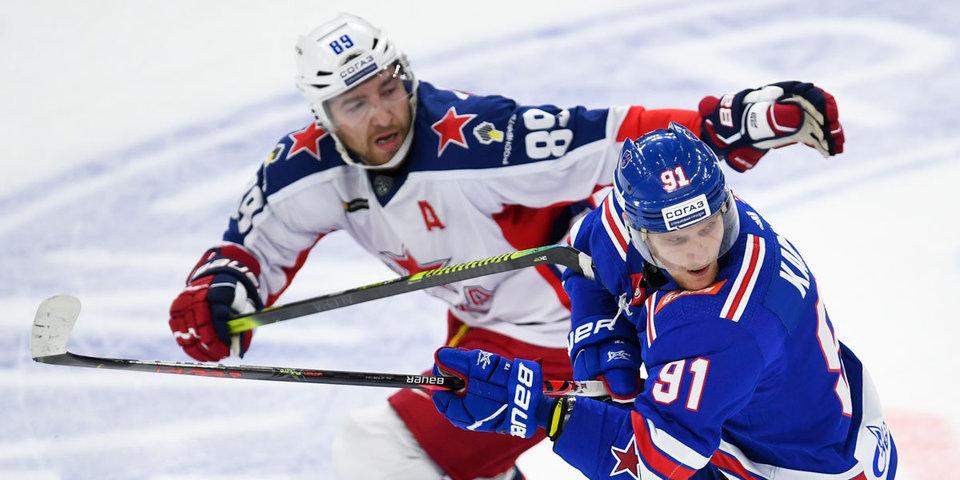 СКА впервые в сезоне выиграл у ЦСКА. Барабанов сделал первый хет-трик в карьере. Видео