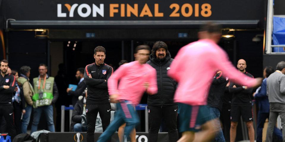Лион - за «Атлетико». В финале Лиги Европы французы болеют против своих