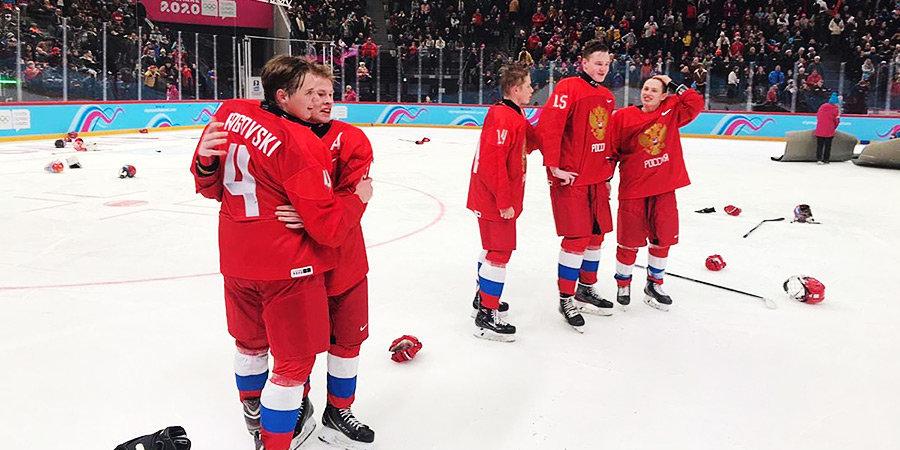 Россия впервые выиграла юношескую Олимпиаду, растерзав США в финале. Голы, празднование и гимн. Видео уже внутри