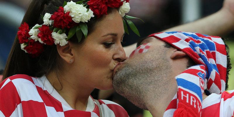 Хорватские болельщики развернули в «Лужниках» баннер со словами «Спасибо, Россия»