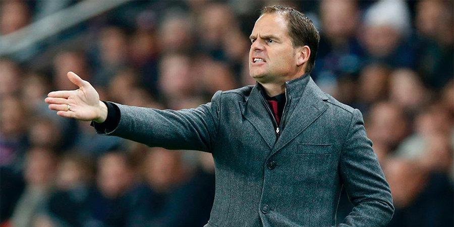 Федерация футбола Нидерландов собирается уволить Де Бура с поста тренера сборной