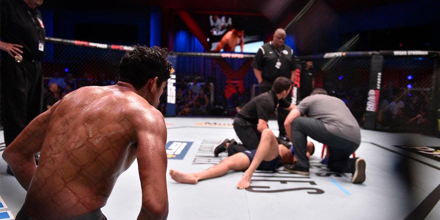 Два нокаута коленями в голову удивили президента UFC. Оба бойца получат контракты