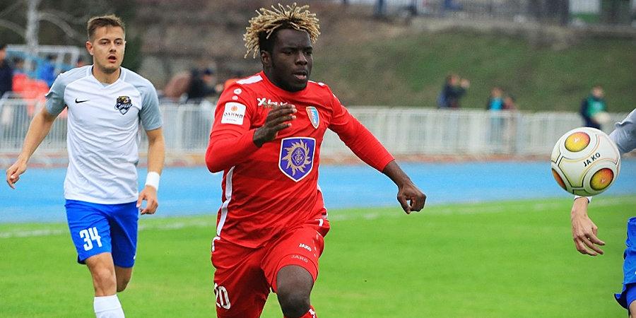 Нигериец из третьего дивизиона Кот-д'Ивуара готов стать звездой РПЛ. Ради этого он проехал Молдавию, Узбекистан и Белоруссию